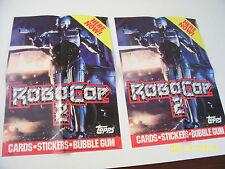 2 Vintage 1990 Robocop 2  Wax Box Promo Posters