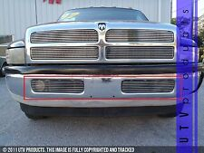 GTG 1994 - 2002 Dodge Ram 1500 2500 3500 4500 2PC Polished Bumper Grille Kit