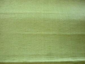 soie sauvage vert anis au mètre