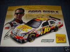 2010 GREG BIFFLE #16 CENSUS 2010 NASCAR POSTCARD