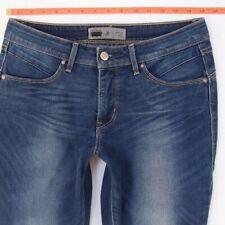 Ladies Womens Levis BOLD CURVE SKINNY REVEL Stretch Blue Jeans W30 L30 Size 10