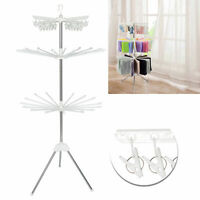 3 Tier Foldable Clothes Airer Arms Horse Drying Rack Laundry Hanging Garment USA