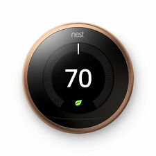 Nest 3rd Generation Programmable Wi-Fi Smart Learning Thermostat T3021US Copper