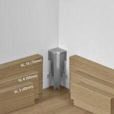 Parador Innenecke kürzbar Typ 2 Alu Optik für SL 3, SL 6, SL 18 Sockelleisten