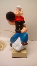 "Vintage working 1982 ""Popeye the Sailor Man"" novelty push button telephone & box"