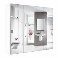 Wall Mirror Cabinet 3 Bathroom Mirror Door Kit Mirrored Medicine Toilet Storage