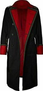 Men's Warhammer 40.000 Long Black Cotton Coat Commissar Jacket
