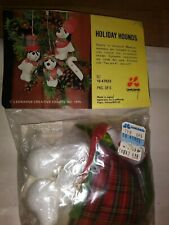 """Vintage Beaded Ornament Kit From Lee Wards """"Holiday Hounds"""" Like Snoopy"""