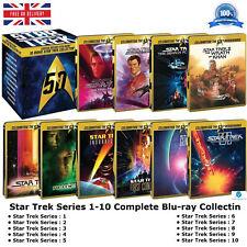 Star Trek 1-10 Limited Edition STEELBOOK Collection 1 2 3 4 5 6 7 8 9 10 Blu-ray