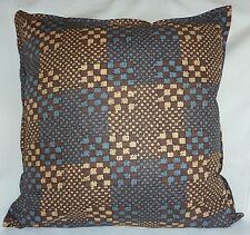 "Cushion Cover Retro brown blue print Cotton Home Sofa Décor UK 18"" Pillow Case"