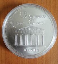 Kanada 10 Dollars Ag 1974 Elisabeth II Olympiade XXI Montreal 1976 PANTHEON