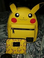 Loungefly Pokemon Pikachu Cosplay Mini Backpack & Matching Wallet NWT
