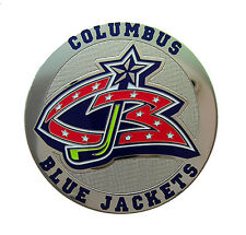 Columbus Blue Jackets Round Metal NHL Logo Magnet