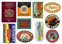 Luggage Hotel Labels and Passport for Suitcase Cakes Edible Icing Decoration