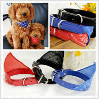 Adjustable Bandanas for Dogs Puppy Pet Products Collars Scarves Accessories FA