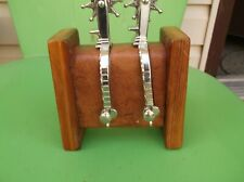 New ListingSpur Display Stand. Holds One Pair. Handcrafted. Vintage Pine & Leather.
