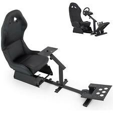 Racing Simulator Cockpit Driving Seat Reclinable with Gear Shifter Mount
