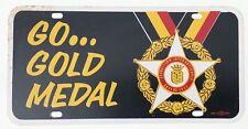 1941 Vintage Stegmaier Gold Medal Beer  Tin Advertising Sign License Plate WWII