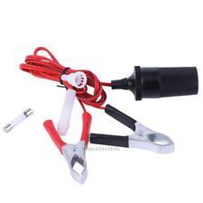 12V Battery Crocodile Clip On Car Cigarette Lighter Female Adapter Power Socket