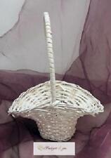 2 Streukörbchen Blumenkörbchen Korb Weiß Hochzeit Deko Blumenmädchen Weide weis