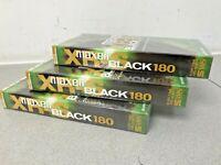 MAXELL S-VHS BLACK 180 - Super VHS master grade VCR Tapes 3 X sealed & NEW