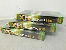 MAXELL S-VHS BLACK 180 - Super VHS master grade VCR Tapes 3 X sealed & NEW