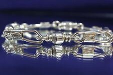 ACTS Sterling Silver Fishers Of Men Bracelet XL Heavy Link w/ Ichthys 8.5 inches