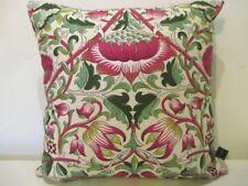 Liberty - William Morris Lodden Pink & Raspberry Velvet Fabric Cushion Cover