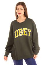 OBEY Sweatshirt Size XL Logo Front Long Sleeve Round Neck
