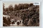 C8046cgt UK Buxton Waterfall in the Gardens pu1949 vintage postcard