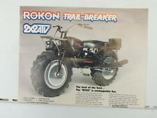Vintage Rokon Trail-Breaker Automatic 2x2 ATV Motorcycle Brochure L1376