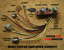 TONE MONSTER MAH5 NO SOLDER Guitar Amp Harness 5W Overdrive MP3 HDPH Cigar Box