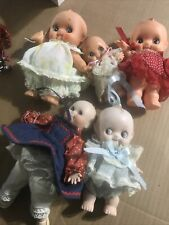 kewpie vtg Doll Lot Three Rubber 2 Porcelain no reserve