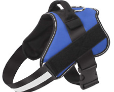 Bolux XL Blue Reflective Safety Dog Harness For Dogs With hook and loop Sides