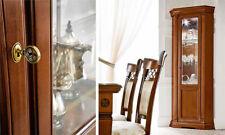 Luxus Eck-Vitrine   Ducale Kirschbaum Furnier Holz Stilvoll  Italy