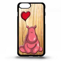 Hippo hippopotamus cute cartoon love heart pattern graphic phone case cover