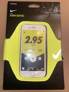 New Nike Lean Running Phone Arm Band Neon Volt Unisex Fits Most Smartphone