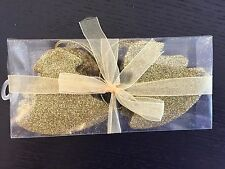 12 x Gold Glitter Christmas Tree Shape Baubles Decorations BARGAIN PRICE