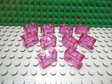 Lego 10 Trans Dark Pink 1x2 brick block NEW