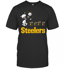 Pittsburgh Steelers T-Shirts NFL Football Team Funny Black Cotton Tee Gift Men