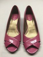 Cole Haan Nike Air Wedge Pumps with Open Toe 7B