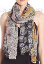 "EMILIO PUCCI yellow & pink SEASHELLS silk Chiffon 52x72"" Giant shawl NWT Authent"