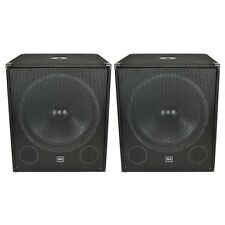 "New QTX Sound QT18SA 1000W 18"" Active Powered Bass Bins Subs Subwoofers PAIR"