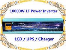 10000W LF Split Phase PSW 48V DC/110V,220VAC 60Hz Power Inverter LCD/UPS/Charger