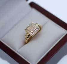 Vintage Antique Jewelry Solid Gold Ring Natural Diamonds Art Deco Jewellery P1/2