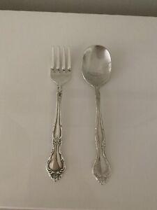 """Oneida Baby Spoon & Fork - Silverplate, 4.5"""" Long"""