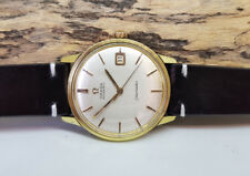 VINTAGE 1966 OMEGA SEAMASTER GOLD CAP SILVER DIAL DATE AUTO CAL:562 MAN'S WATCH