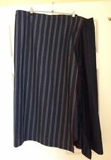 Cotton Blend Striped Plus Size Skirts for Women