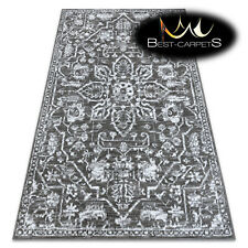 ORIGINAL Designer Rug 'RETRO' CHEAP Vintage carpets HE184 Flowers grey cream