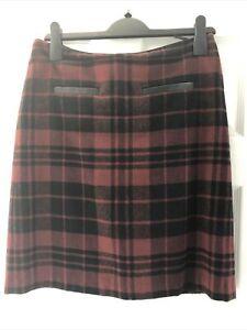 M&S Wool Blend Short Tartan Skirt (Long) Size 10